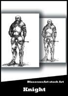 BlaszczecArt Stock Art: Knight 2 B&W