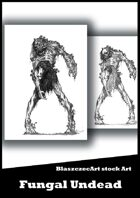 BlaszczecArt Stock Art:  Fungal Undead B&W