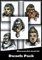 BlaszczecArt Stock Art: Dwarfs Portraits Pack