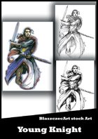 BlaszczecArt Stock Art: Young Knight