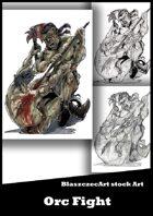BlaszczecArt Stock Art: Orc Fight