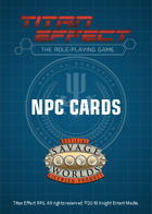 Titan Effect RPG: NPC Cards