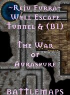 Reju Furra Well Escape Tunnel & (B1) | Battlemap - The War of Auraspure