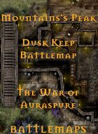 Mountain's Peak Dusk Keep | Battlemap - The War of Auraspure