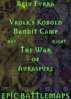 Vrolk's Kobold Bandit Camp | Battlemap - The War of Auraspure