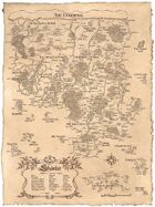Shaintar Poster Map (Classic Monochrome)