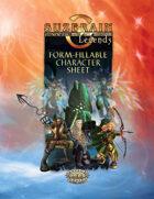 Suzerain Legends: Form-Fillable Character Sheet