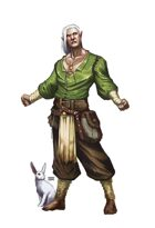 Half-Elf Druid Guy - RPG Stock Art