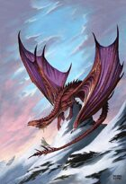 Dragon in the Snow - RPG Stock Art
