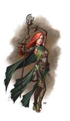 Female Druid w Stave - RPG Stock Art