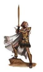 Female Elf Warrior w Sword - RPG Stock Art