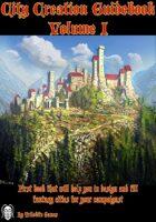 City Creation Guidebook volume I