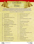 100 Book Titles