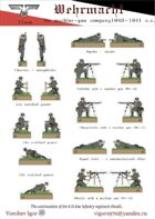 The Wehrmacht 1940-1941 g Infantry regiment. The machine-gun company.
