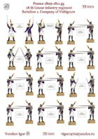 New!!! 18-th linear infantry regiment. 1st battalion, Voltiger (France 1809-1811)