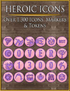 Heroic Icons: Pink & Purple