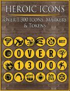 Heroic Icons: Black & Yellow