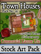 Town Houses - Stock Art