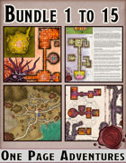 One Page Adventures 1-15 [BUNDLE]