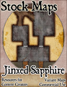 Jinxed Sapphire Dungeon - Stock Map