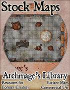 Archmage's Library Dungeon - Stock Map