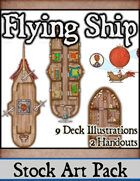 Flying Ship - Stock Art