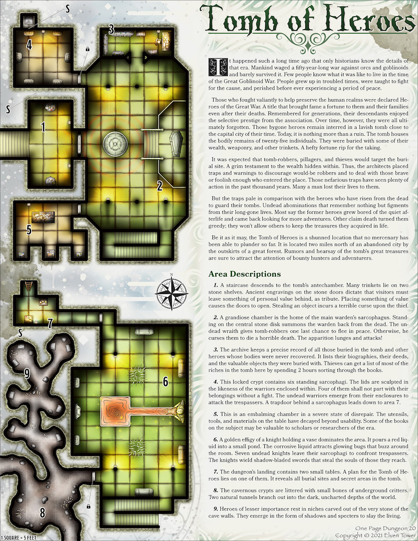Tomb of Heroes - One Page Adventure
