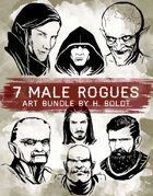 7 Male Rogue Character Stock Illustrations
