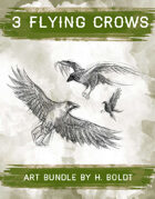 3 Crows Filler Stock Illustration