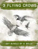 3 Crows Filler Stock Illustration