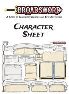 Broadsword: Character Sheet