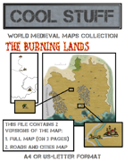 Medieval map: Burning Lands