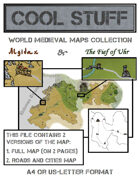 Medieval map 17-18: Algidax and Fief of Uhr