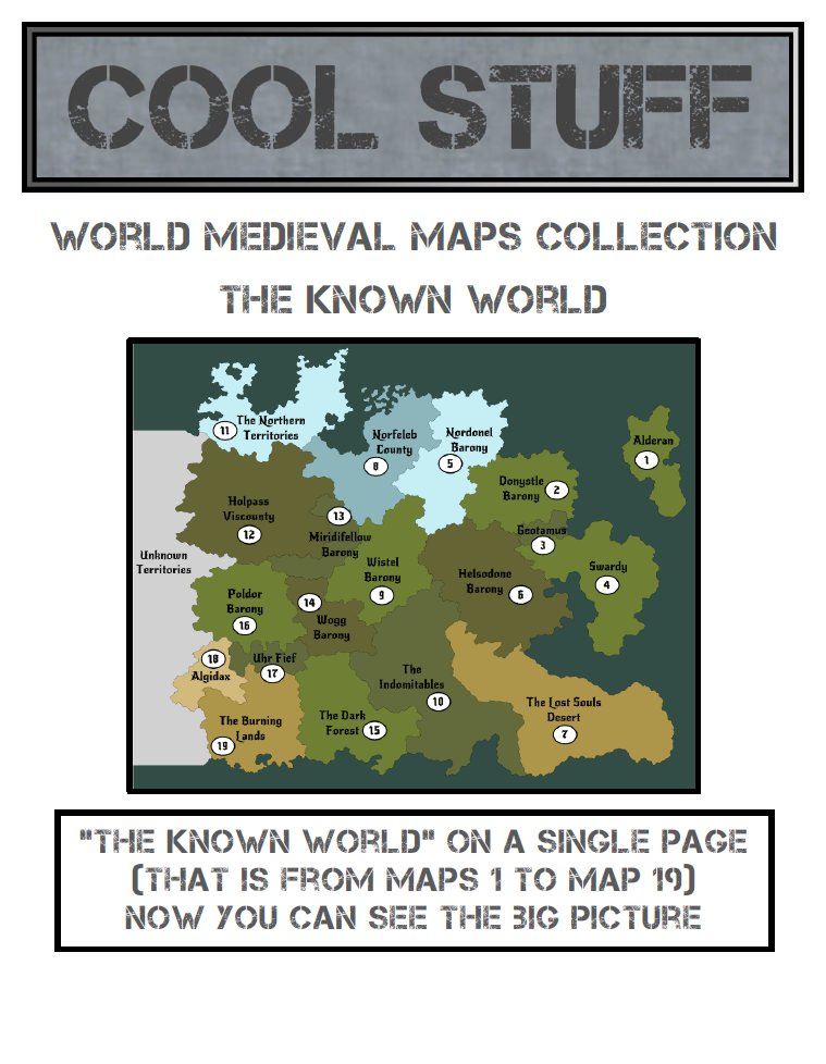 Medieval Map 00 Known World Coolstuff Medieval Maps Collection