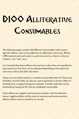 d100 Alliterative Consumables