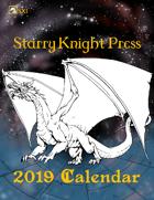 SX1 Starry Knight Press 2019 Calendar