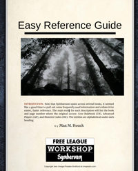 Symbaroum Easy Reference Guide