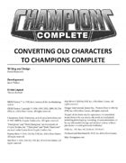 Champions Complete Freebies and Errata