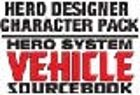 Hero System Vehicle Sourcebook Character Pack [vehicles for Hero Designer software]
