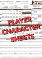 Lore: Player Character Sheets