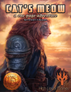 Cat's Meow: A One Page Adventure for 13th Age