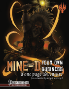 Mine-d Your Own Business for The Pathfinder Roleplaying Game