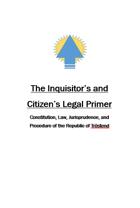 Legal Primer for the Republic of Trostend