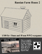 Russian Farmhouse for Wargames - Model 2