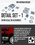 HOT WAR - Mech Detail Set 1
