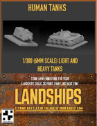 Humans Steam Tanks for Landships