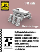 Beetle Legs 1/64 for Car Combat Games