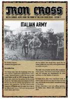 Italian Army for Iron Cross