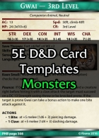 Tintagel's 5E Monster Card Template