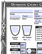 AutoFill Dungeon Crawl Classics Character Sheets